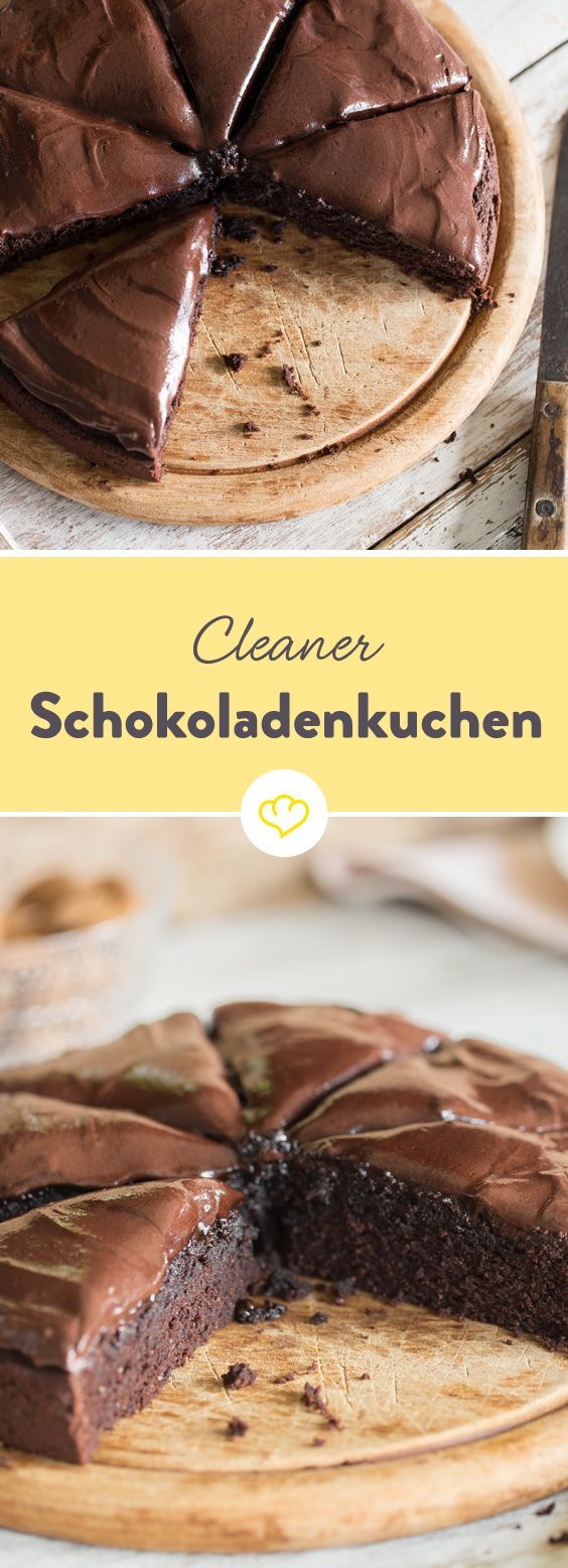 This is how chocolate cake goes – clean and with frosting  – Clean baking | Rezepte ohne Zucker