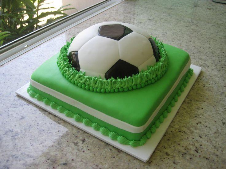 "Cookies & Cakes: ""Futbol"" Queque de fondant Vainilla y Chocolate"
