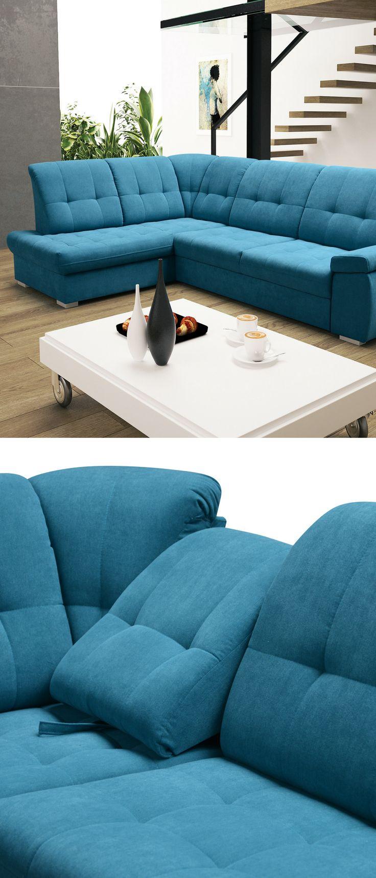 Corner sofa in blue colour? Why not! Check this out!  Narożnik w kolorze niebieskim? Dlaczego nie! Sprawdź to ;)  #mirjan24 #cornersofa #sweethome #smurfs #rest