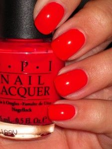 "OPI ""Cajun Shrimp"" one of my favorite nail polish colors!!   my all time favorite color ever."