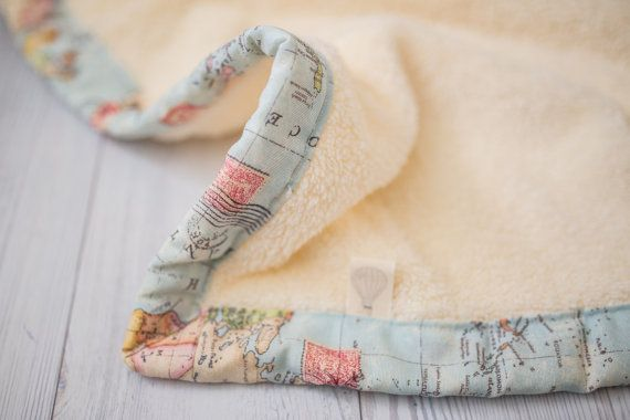World map blanket with the softest minky. I have an ongoing love story with maps. There. I said it. It is beautiful and sentimental for me, as a