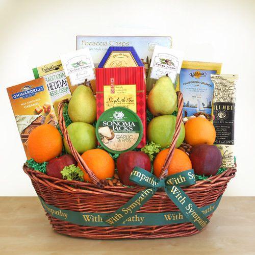 Deepest Sympathy Fruit Gift Basket
