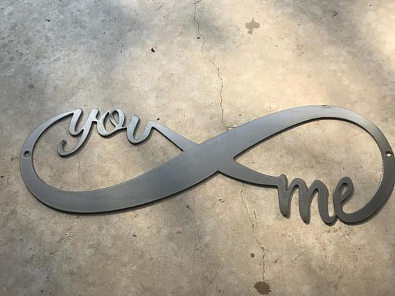Infinity You And Me Metal Sign Wall Art Love Anniversary