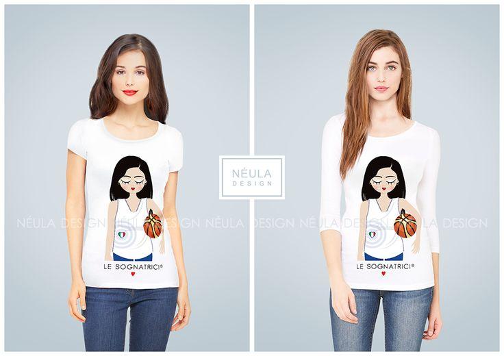 T-shirt Le Sognatrici - I love Basket - Maglietta Basket - www.lesognatrici.com