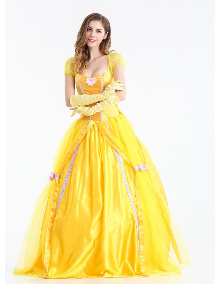 NEW PRINCESS BELLE DRESS //Price: $47.99 & FREE Shipping //     #disneyprincess1st