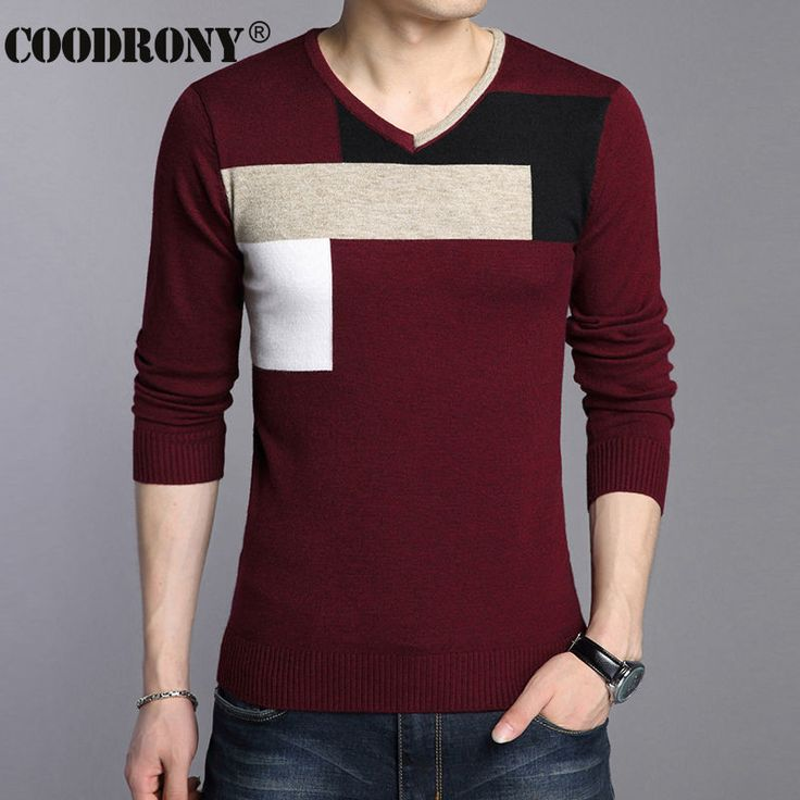 Cashmere Sweater Men Christmas Sweaters Casual V-Neck Pullover Men Pull Homme