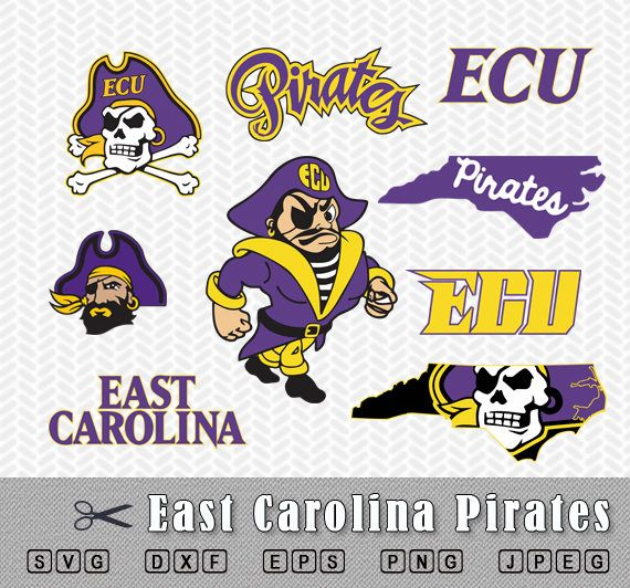ECU Pirates Logo in SVG, DXF, EPS, PNG and JPEG ******************* After payment you will get zip file that includes 9 logos Each logo is located in a separate folder Each folder contains five file formats for printing and cutting: SVG, DXF, EPS, PNG and JPEG ******************* All files for cutting of ECU Pirates in my store are here http://etsy.me/2qIVo2M ******************* INSTANT DOWNLOAD No physical item will be shipped. Its a digital file ready for instant download.  *...