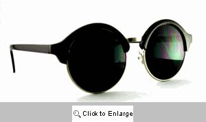Club 54 Round Clubmasters Sunglasses - 563 Black