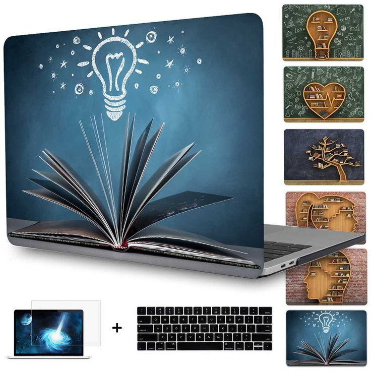 2016 Newest Oct Pro 13 inch A1706/A1708 Cover Creative bookshelf Laptop case for Macbook Pro 15 inch A1707 touchbar Case Shell