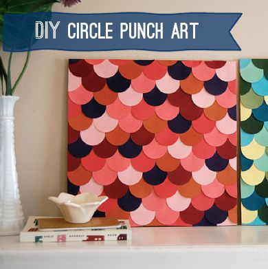 Collage paper circles into a happy piece of art. | 28 Decorating Tricks To Brighten Up Your Rented Home