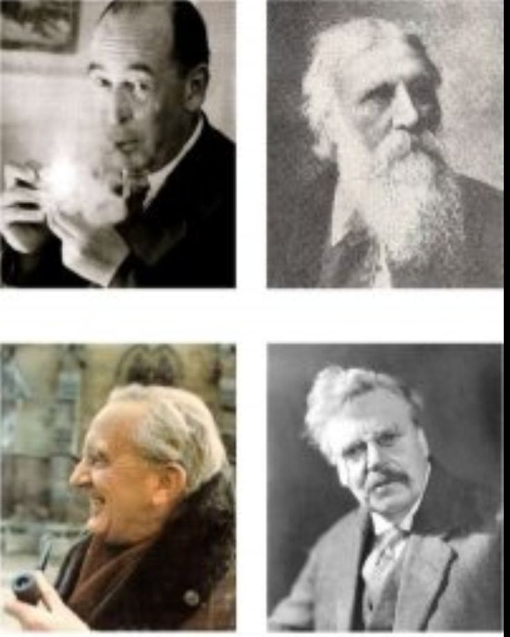 c S Lewis, George McDonald, J R Tolkein and G K Chesterton