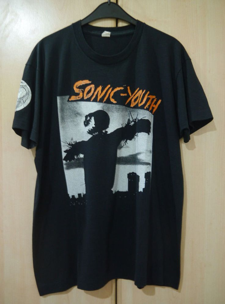 EXTREMELY RARE vintage OG 80s SONIC YOUTH BAD MOON RISING noise rock t-shirt M/L