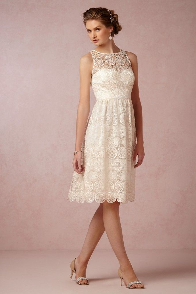 Casual afternoon tea wedding dress BHLDN Fall 2014 Collection Preview