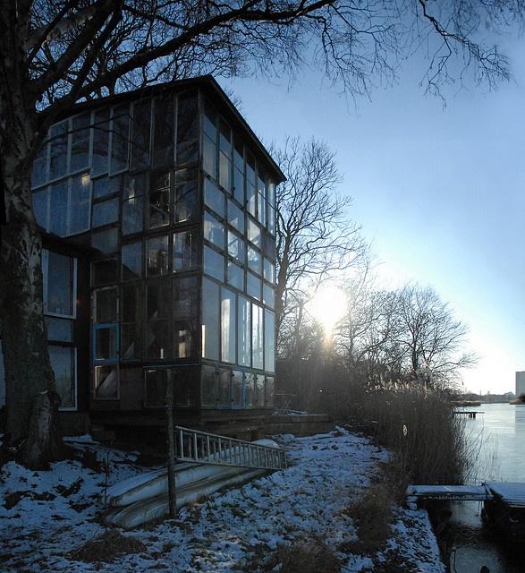 wooden buildings of Christiana, the surreal, semi-autonomous, rebel neighbourhood of Copenhagen