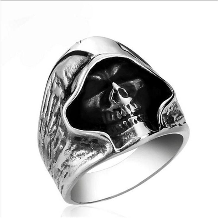 Fashion Punk Style Retro Grim Reaper Skull Rings