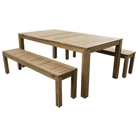 Reside Teak Table and Bench Seat Set