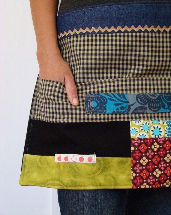 Simple patchwork apron