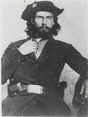 """Bloody Bill"" Anderson was a member of Quantrill's Raiders, a group of violent Confederate guerrillas. Anderson was killed by members of the Missouri State Militia in 1864. After the Civil War ended, Frank and Jesse James tracked down the man they believed was responsible for his death and killed him. #civilwar"