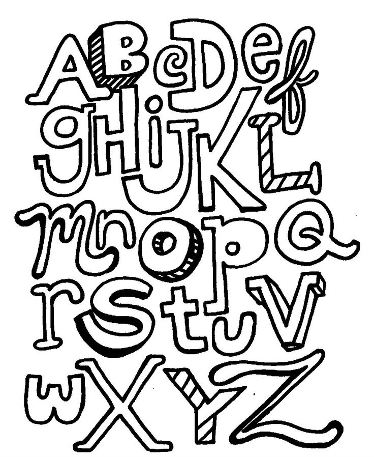 Funny Alphabet With Letters What Not Irregular