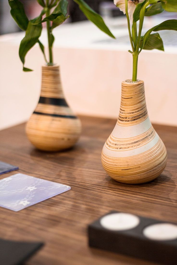 58 best woodturning images on pinterest woodturning lathe woodturned vases with recycled plastic bands designed by lucentia and sarah thirlwell photography by reviewsmspy