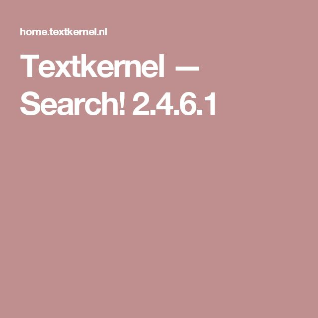 Textkernel — Search! 2.4.6.1