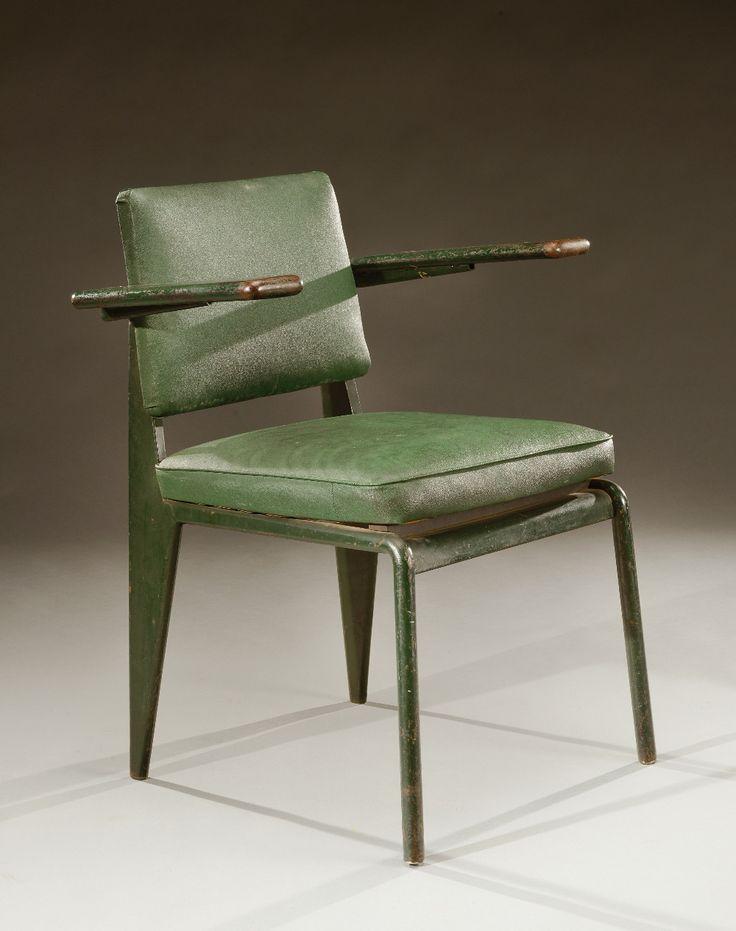 Jean Prouvé; #EDF CD 31 Enameled Metal 'CDPE' Armchair, c1935.