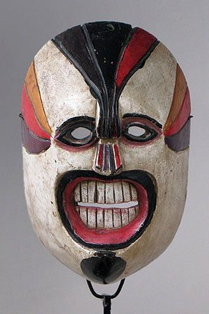 Geometric Xantolo mask from Huasteca, Hidalgo, Mexico