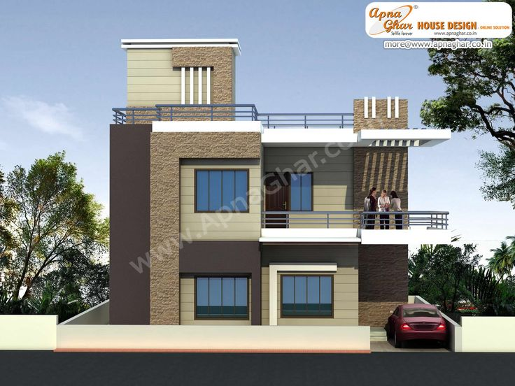 Modern Beautiful Duplex (2 floors) House Design. Area: 920 sq. mts ...