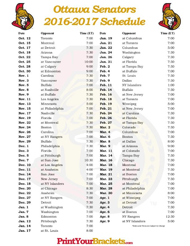 86 best images about Printable NHL Schedules on Pinterest