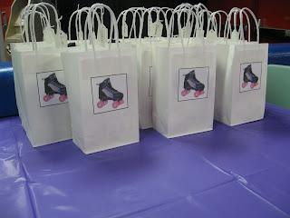 roller skating party favor bags