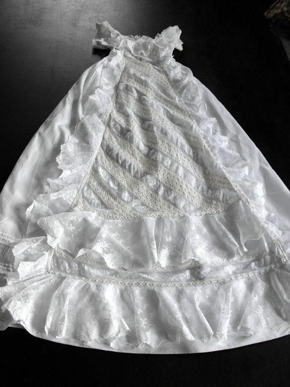 b9e2d4b35c Vintage English Victorian Christening Gown from the Collection of French  and English Christening Gowns in our shop