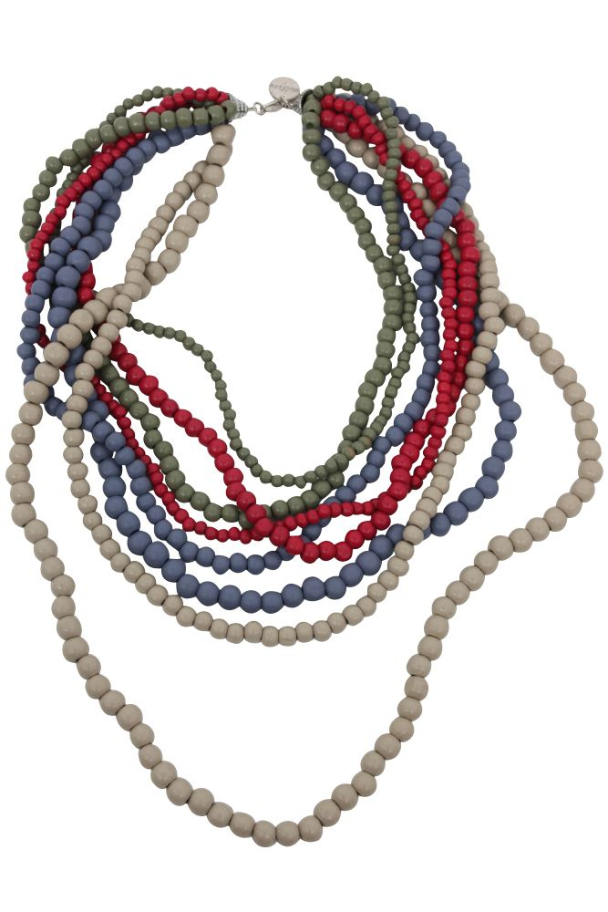 Multistrand Necklace by Eb&Ive features wooden beads and comes in 6 gorgeous colours this season.  Available at www.bohemianliving.com.au