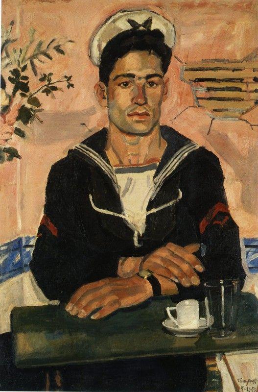 Ναύτης, Γιάννης Τσαρούχης 1955.  Συλλογή Δ.Ν.Π.