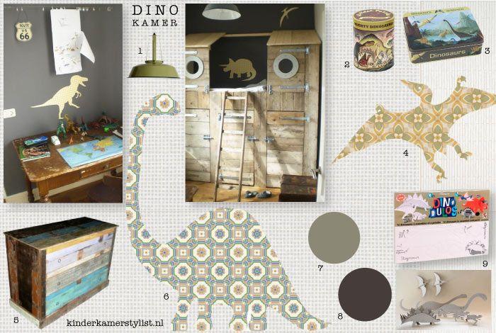 Mood board for Dino room