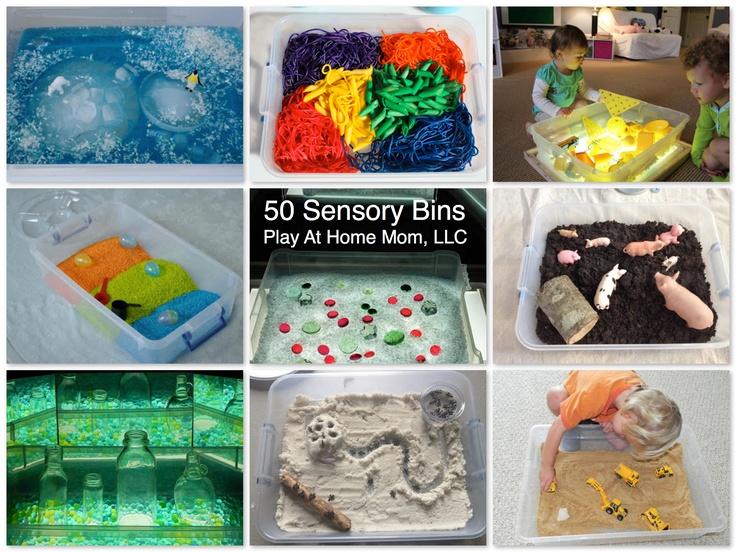 50 Sensory Bin Ideas - reminds me of activities used in Reggio Emilia
