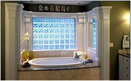 Colored Glass Block Shower Frosted Colored Glass Block In A Bath Is Stunning Master Bath