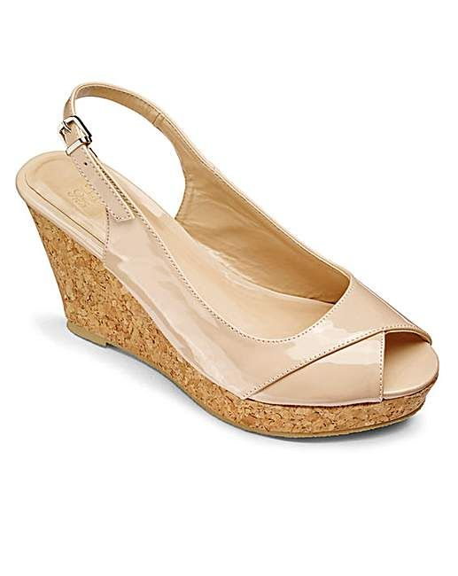 Sole Diva Slingback Wedges E Fit   Fifty Plus