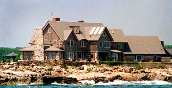 """George H.W. Bush's 8-acre summer home in Kennebunkport, Maine has been in the family for 120 years. The estate, sometimes called the """"Bush Compound,"""" includes a pool, a gym, and a windmill. Visitors have been known to scoot around the estate on Segways."""