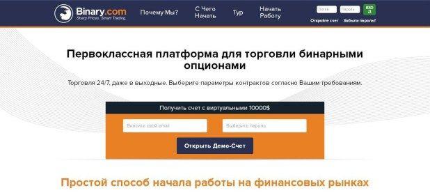 Отзывы о брокере бинарных опционов Binary.com