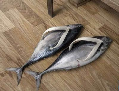 Fish shoes? Strange fashion ideas.