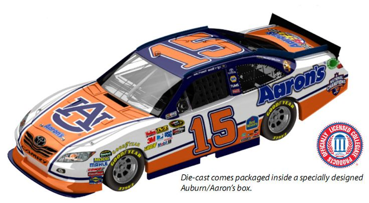 PHOTO: Michael Waltrip's Auburn Football Car For NASCAR Talladega ...