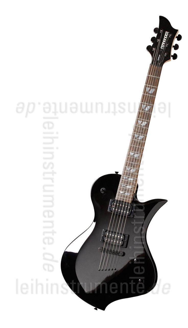 E-Gitarre FERNANDES RAVELLE X - Black, Neuware kaufen bei www.leihinstrumente.de, Gitarren, E-Gitarren, Musikinstrumente, Gitarre, E-Gitarre, Egitarre, Elektrogitarre, E-Gitarren-Set, EG-F-RV-X-BK