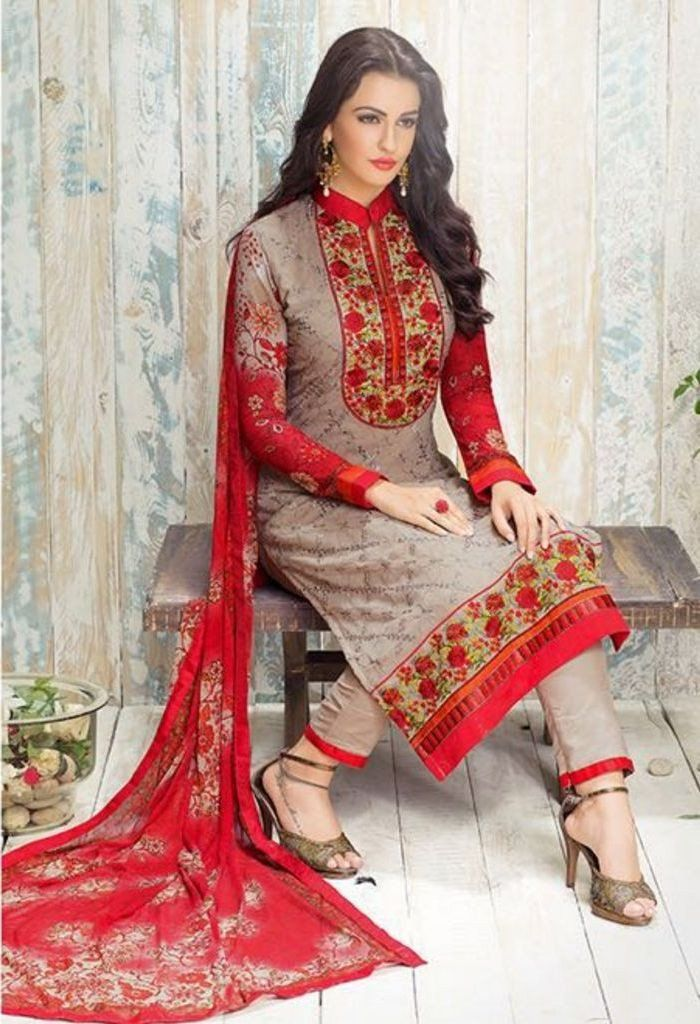 Product Code 406 Weight 2 KGS Delivery Days 20 Days Fabric Georgette Embroidered Cut (In Mtr) 10.75 Dupatta Printed Occasion Party Wear, Traditional Shipping Worldwide Salwar Type Semi Stitched / Unst