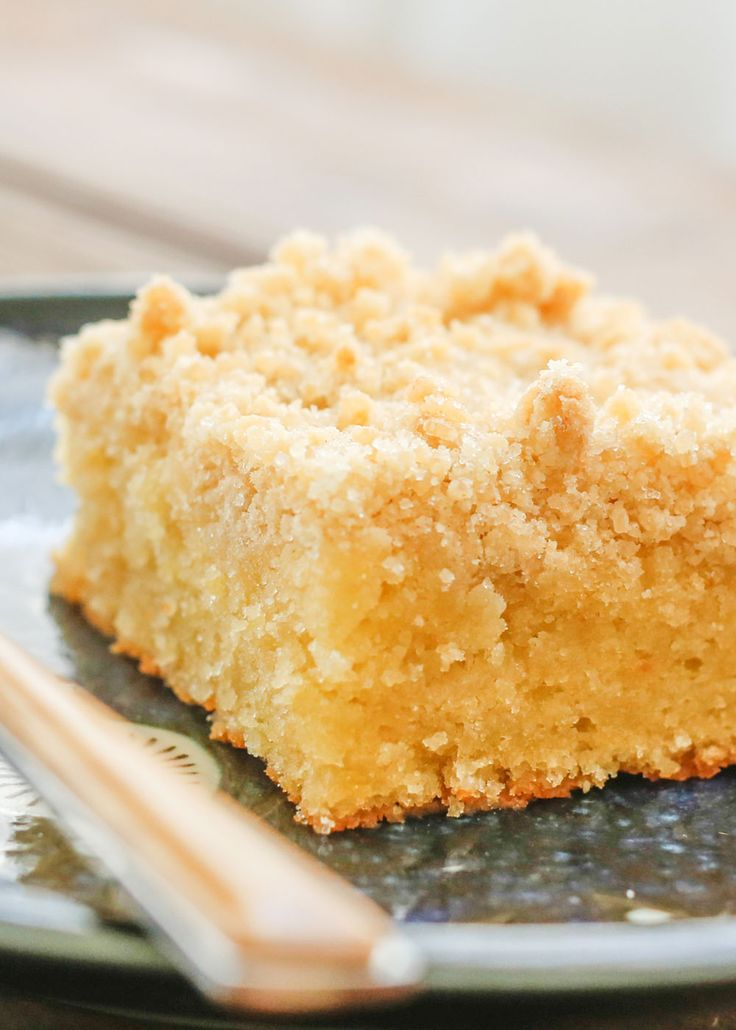 This Lemon Coffee Cake is perfectly moist, sweet, and tart with a crunchy sugar topping. (recipe includes both traditional and gluten free options)