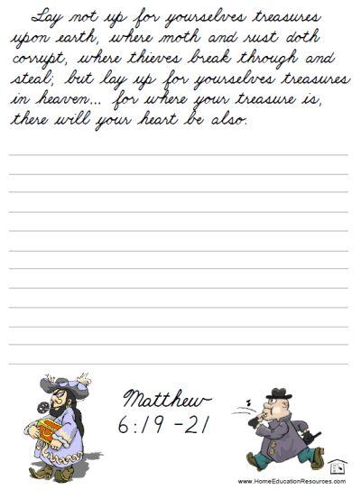 Printable Bible Cursive Worksheet Packet Free For Kids