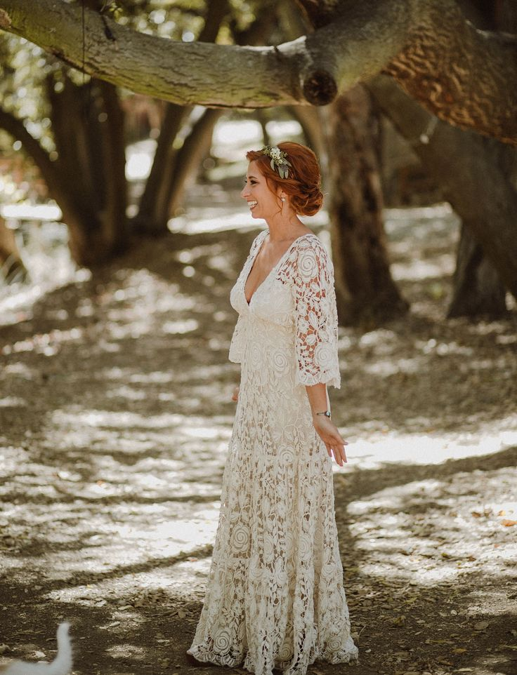 Lace wedding dress by Kite & Butterfly