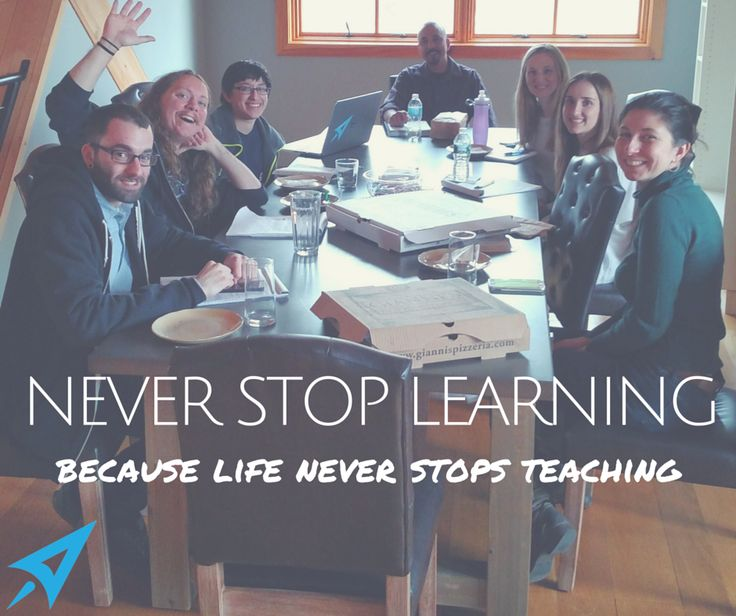 Never Stop Learning. CMDS #lunchandlearn
