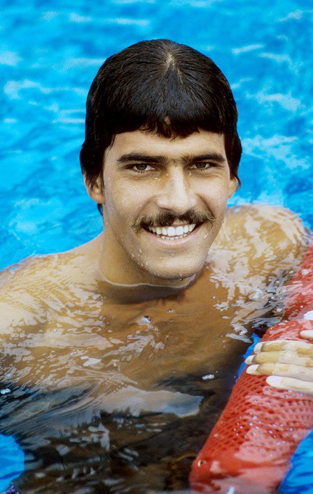 Throwback Thursday - Before Michael Phelps, there was Mark Spitz. The California-native won 2 gold medals, one silver, and one bronze at the Olympic games in Mexico City. His best performance was when he won 7 gold medals at the Munich Olympic Games in 1972. No one broke his record until Phelps won 8 gold medals at the Beijing Olympics in 2008.
