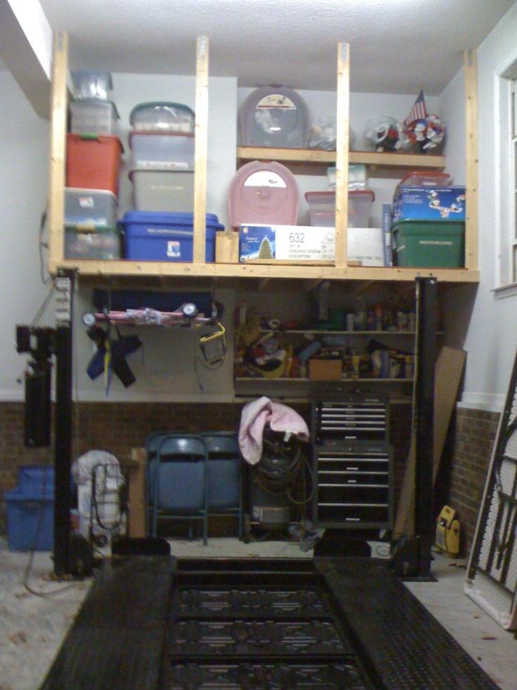 Garage loft garage storage pinterest for Diy garage storage loft