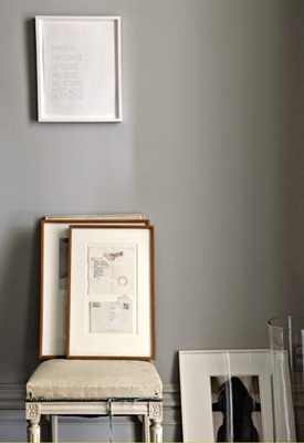 The whole house is in beautiful greys. {Jenna Lyons' home (Creative Director of J Crew) via Share Design}
